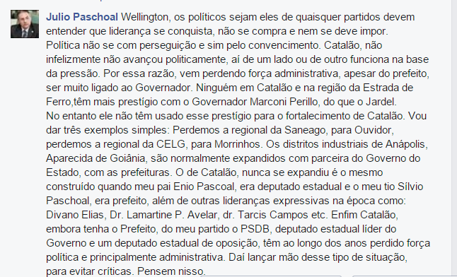 Comentário Júlio Paschoal