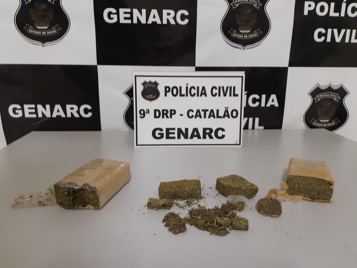GENARC PRENDEU DOIS TRAFICANTES DURANTE TRANSAÇÃO DE DROGAS NA VILA MUTIRÃO, EM CATALÃO