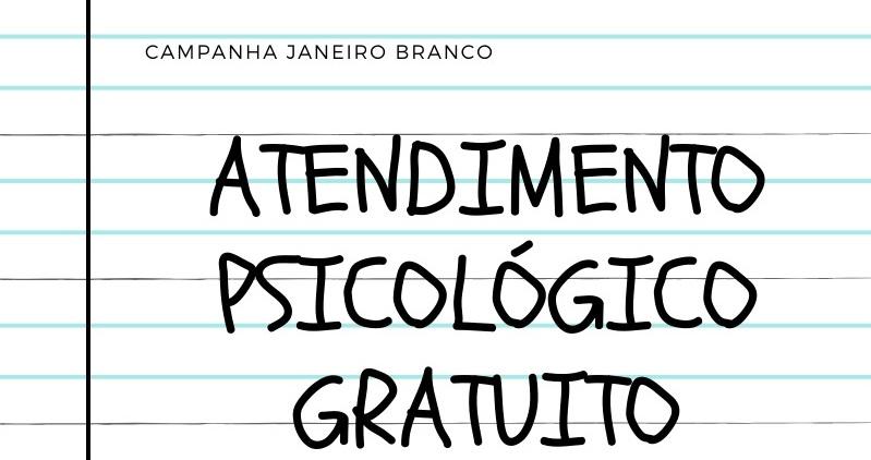 JANEIRO BRANCO: PSICÓLOGOS DE CATALÃO FARÃO ATENDIMENTOS GRATUITOS NESTA SEXTA-FEIRA (24)